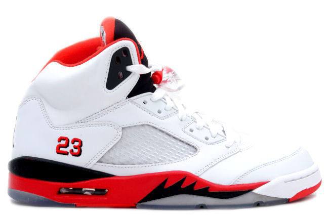 Air Jordan 5 (V) Retro Fire Red Women