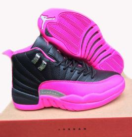 cheap for discount ec828 151f8 australia air jordan 12 retro pink black d992d 83039